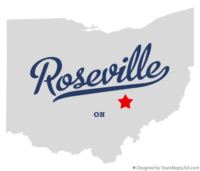 Map of Roseville Ohio OH