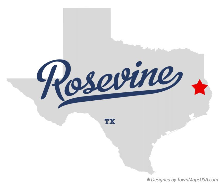 Map of Rosevine Texas TX