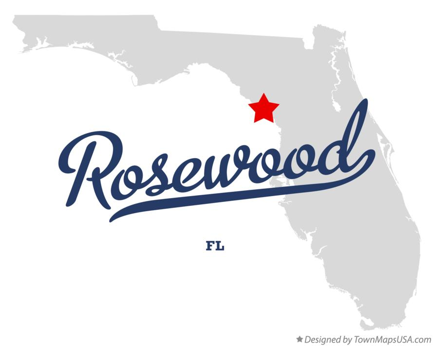 Map Of Rosewood Fl Florida