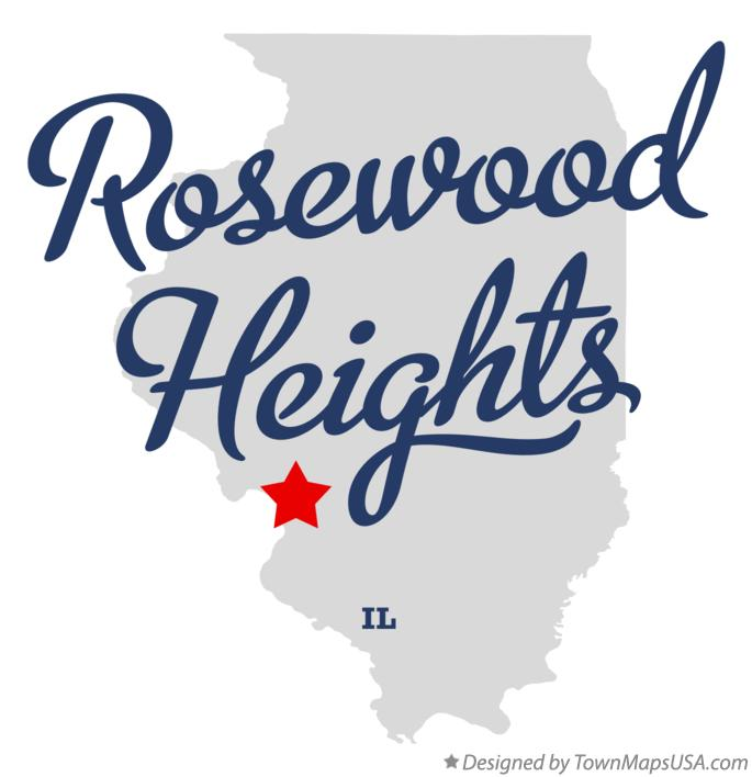 Map of Rosewood Heights Illinois IL