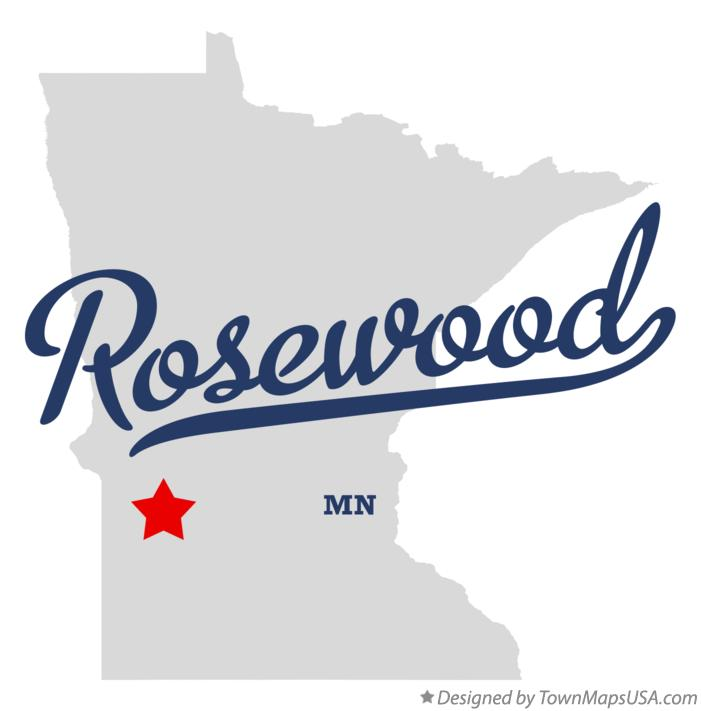 Map of Rosewood Minnesota MN
