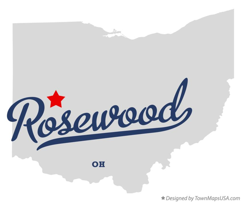 Map of Rosewood Ohio OH