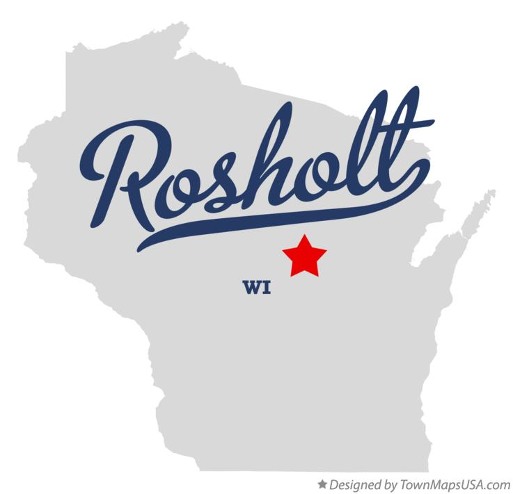 Map of Rosholt Wisconsin WI