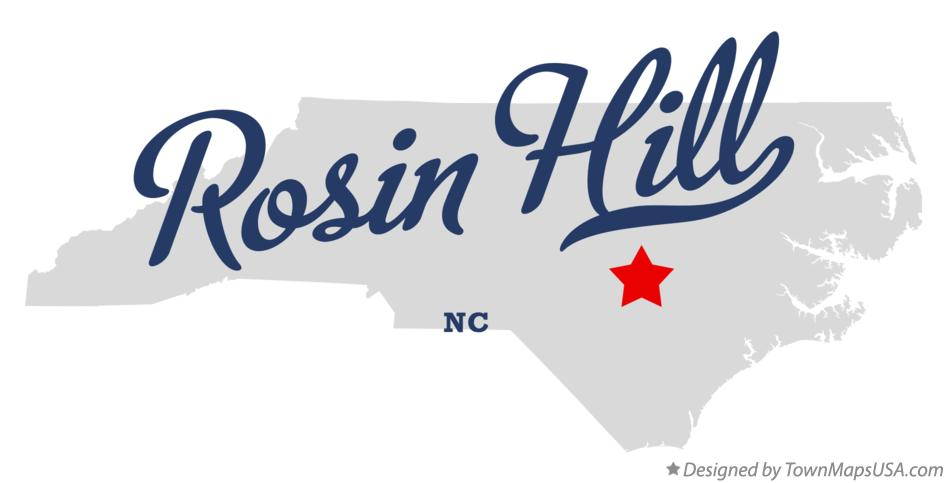 Map of Rosin Hill North Carolina NC
