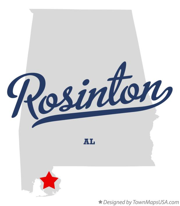 Map of Rosinton Alabama AL