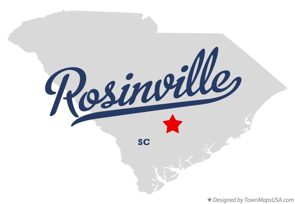 Map of Rosinville South Carolina SC