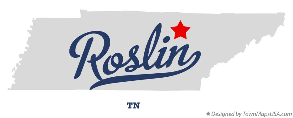Map of Roslin Tennessee TN