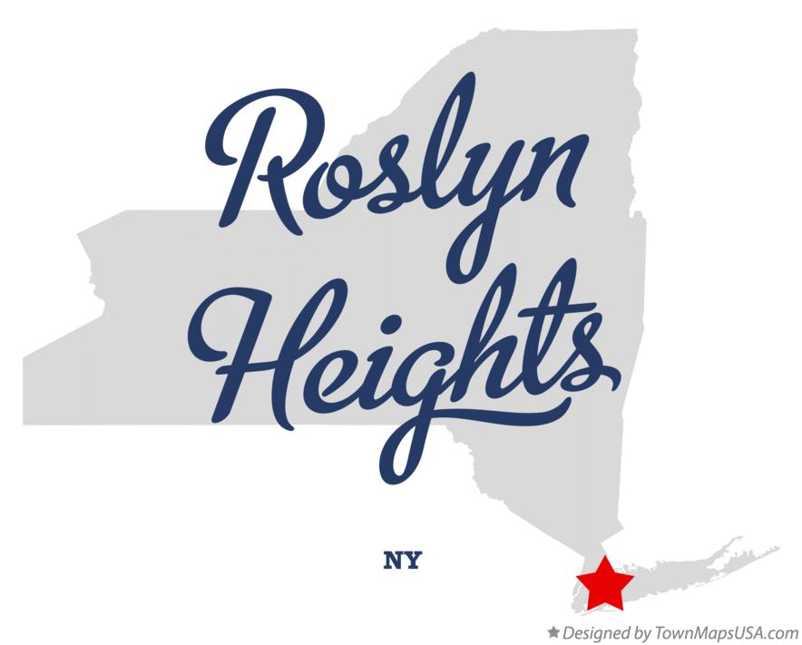 Map of Roslyn Heights New York NY