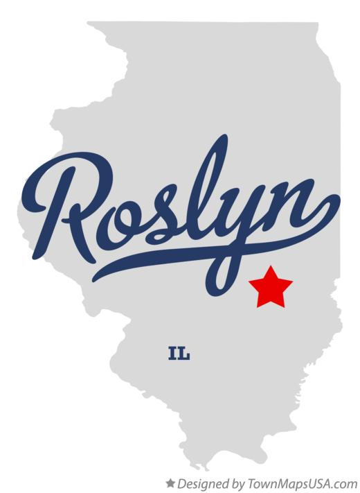 Map of Roslyn Illinois IL