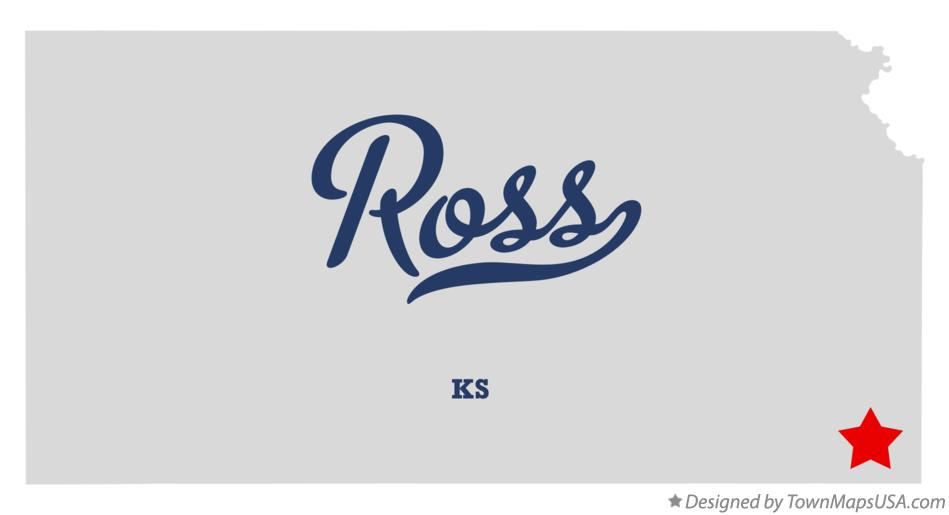 Map of Ross Kansas KS