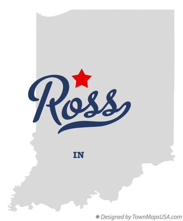 Map of Ross Indiana IN