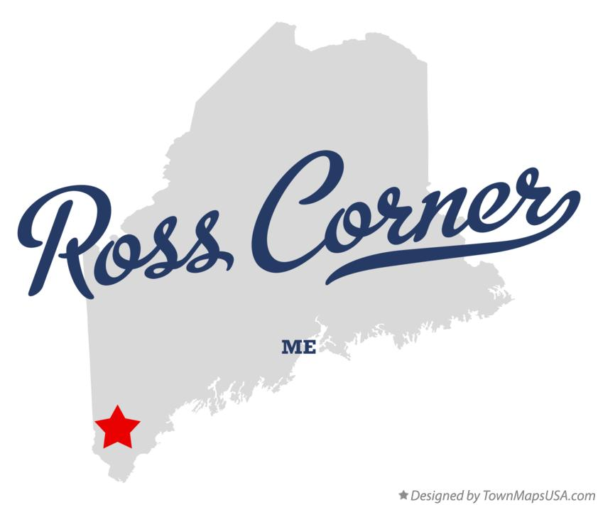 Map of Ross Corner Maine ME