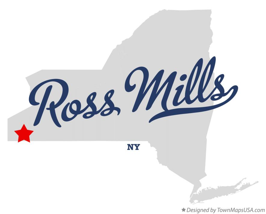 Map of Ross Mills New York NY