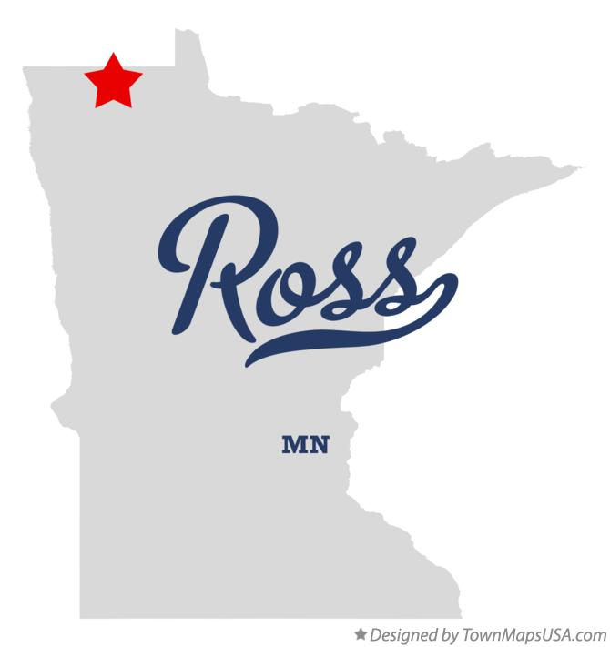 Map of Ross Minnesota MN