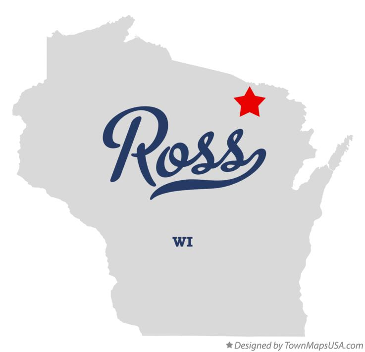 Map of Ross Wisconsin WI