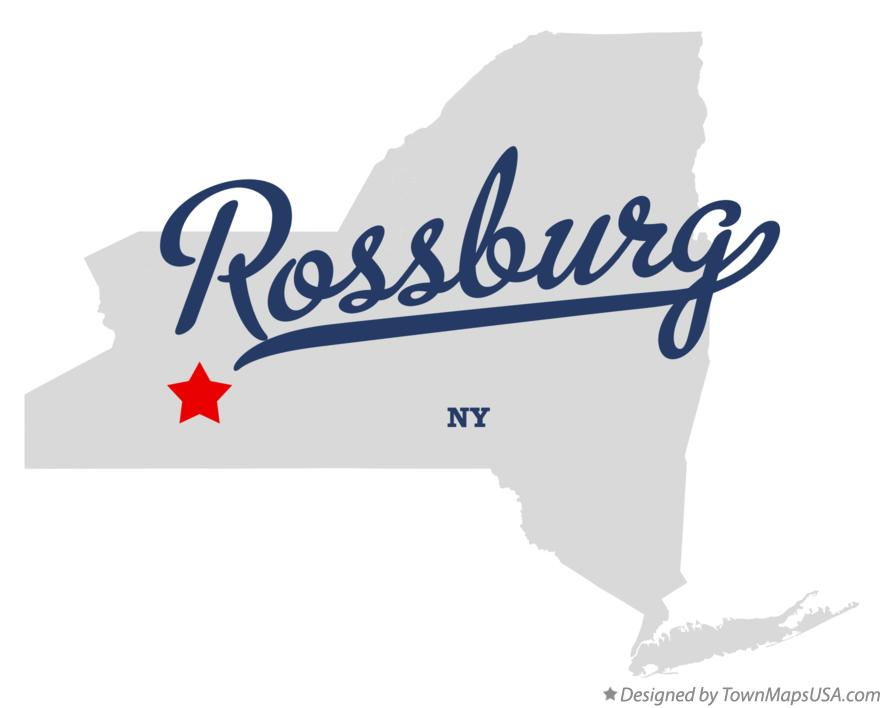 Map of Rossburg New York NY