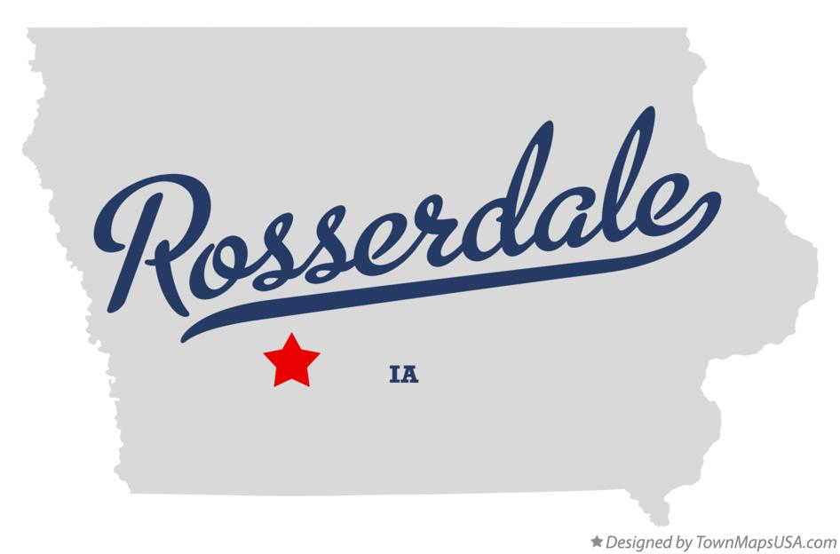 Map of Rosserdale Iowa IA