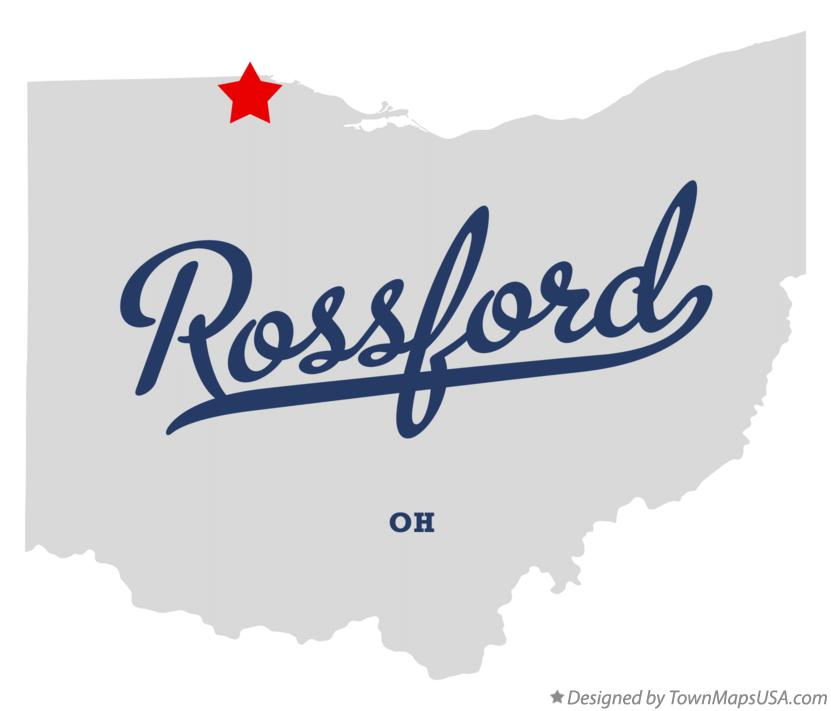 Map of Rossford Ohio OH