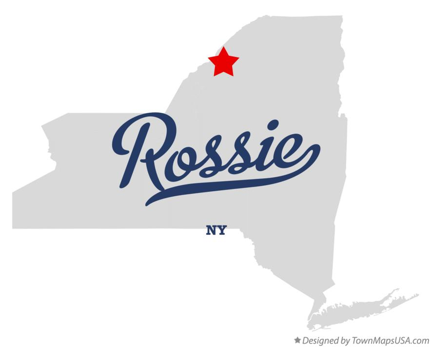 Map of Rossie New York NY