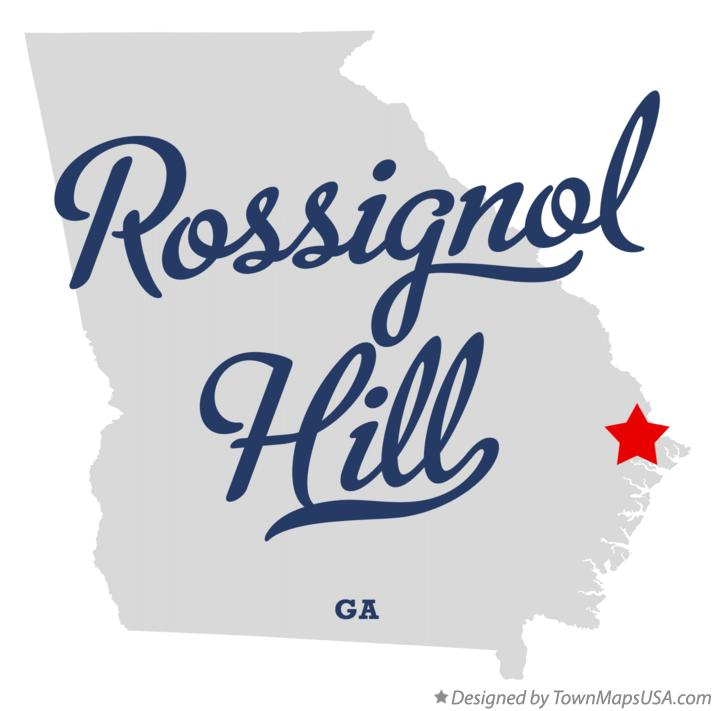 Map of Rossignol Hill Georgia GA