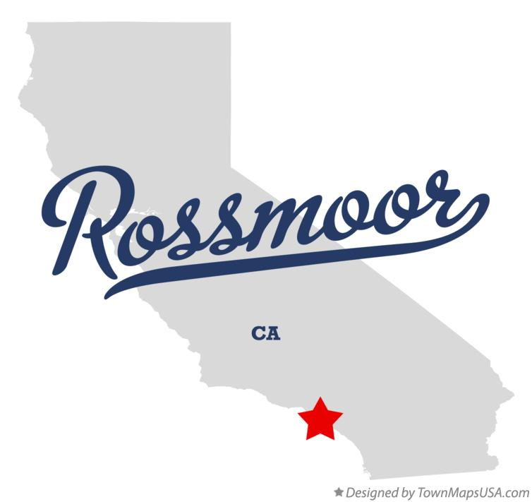 Map of Rossmoor California CA