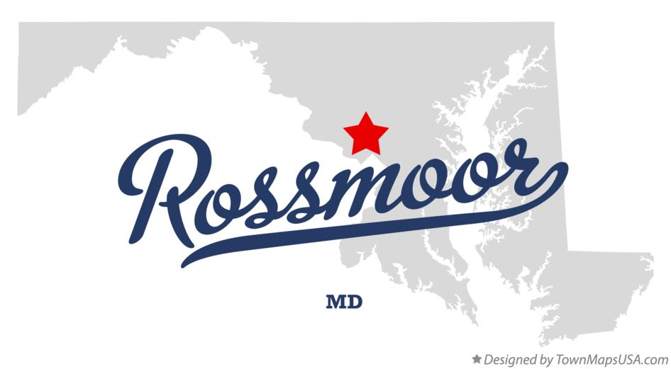 Map of Rossmoor Maryland MD