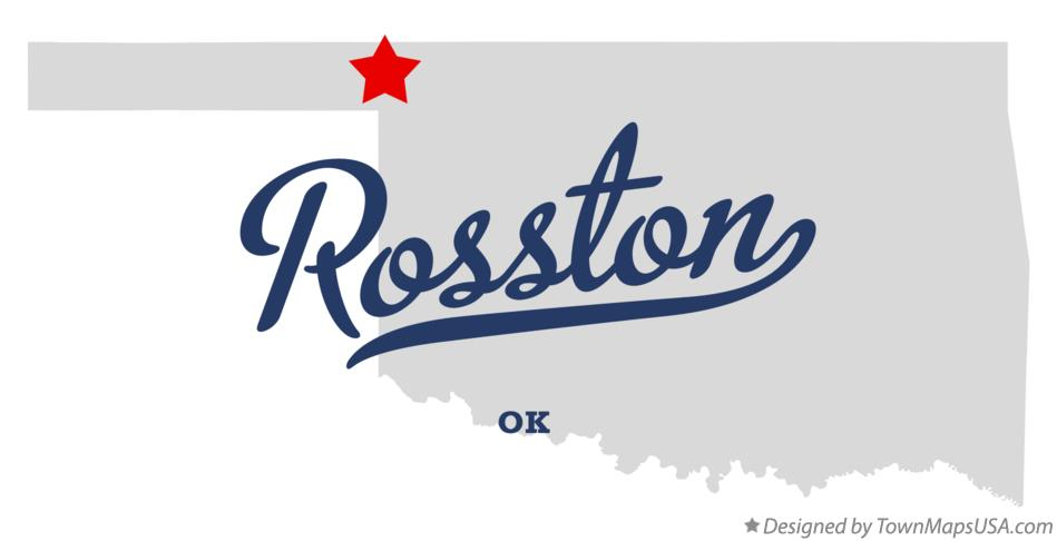 Map of Rosston Oklahoma OK