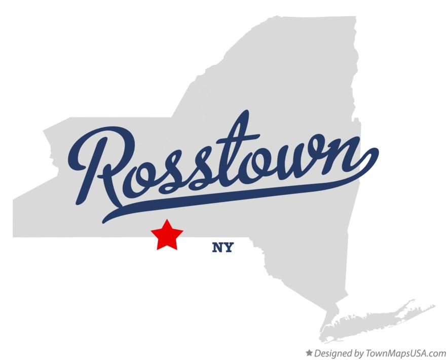 Map of Rosstown New York NY