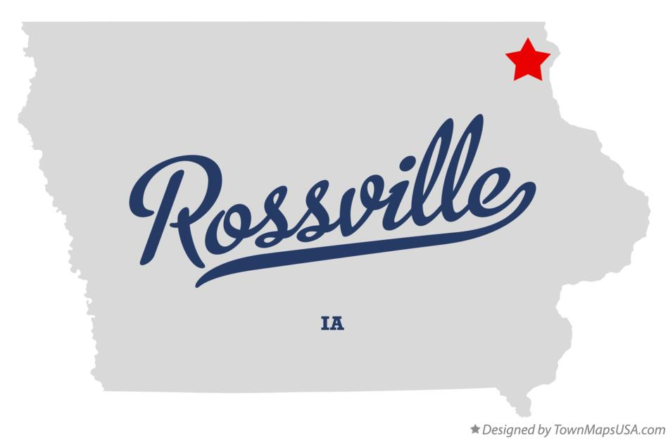 Map of Rossville Iowa IA