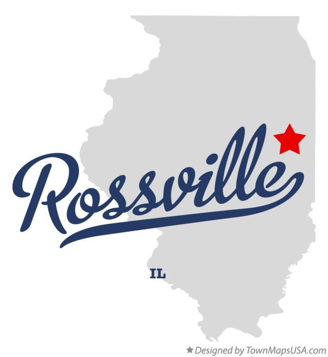 Map of Rossville Illinois IL