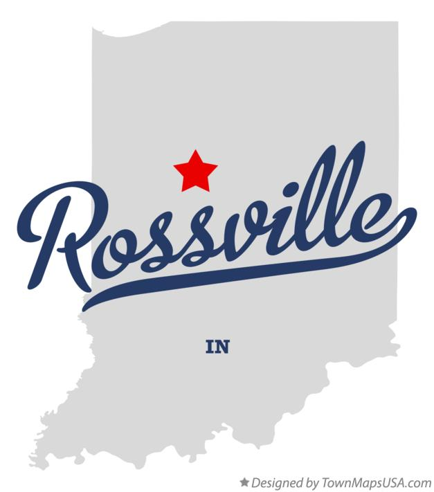 Map of Rossville Indiana IN