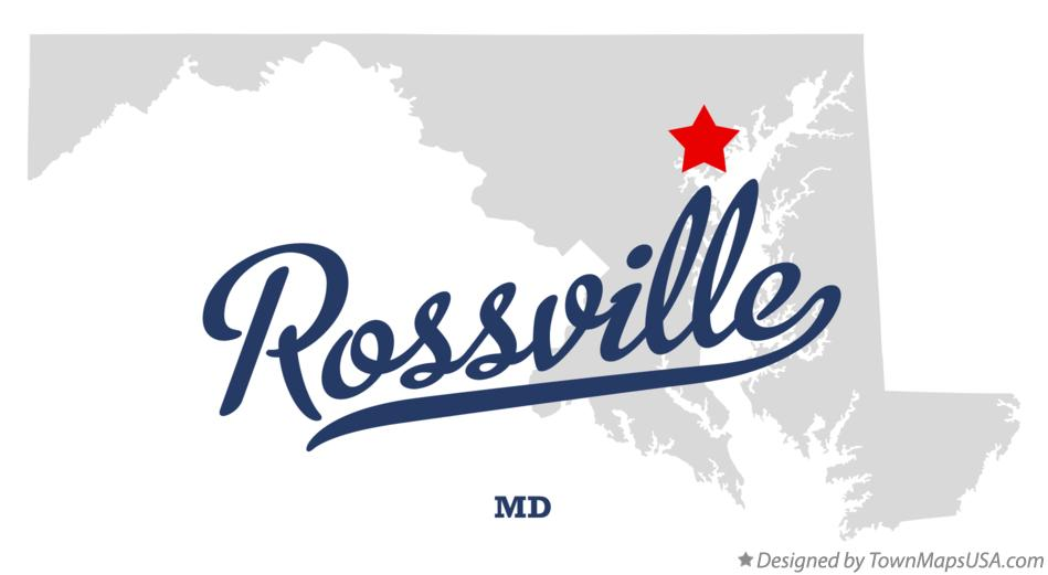 Map of Rossville Maryland MD