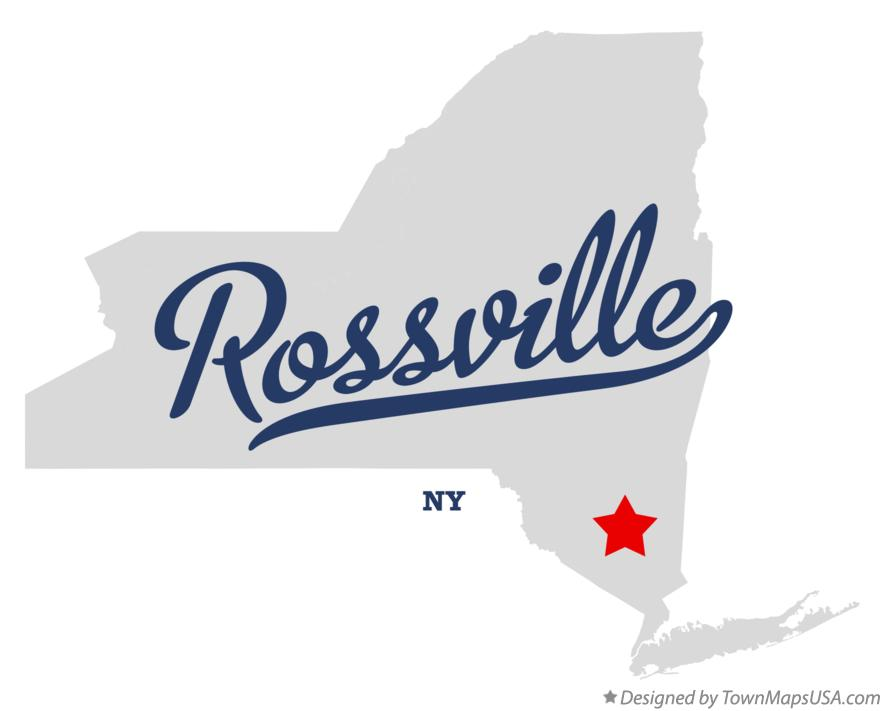 Map of Rossville New York NY
