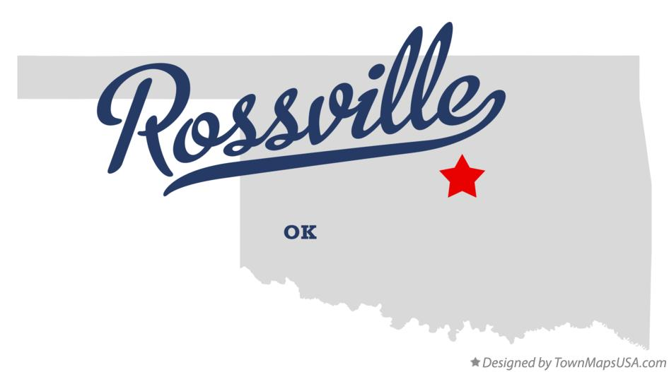 Map of Rossville Oklahoma OK