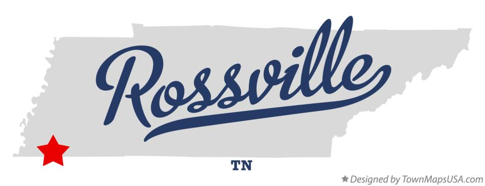 Map of Rossville Tennessee TN