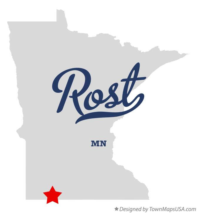 Map of Rost Minnesota MN