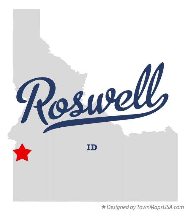 Map of Roswell Idaho ID