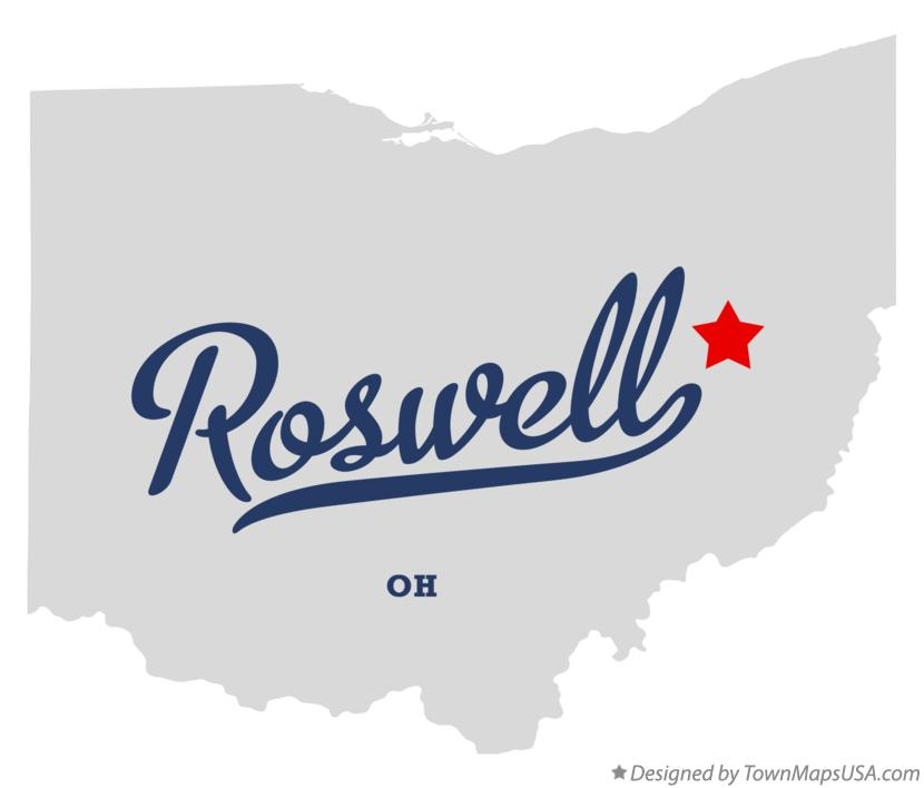 Map of Roswell Ohio OH