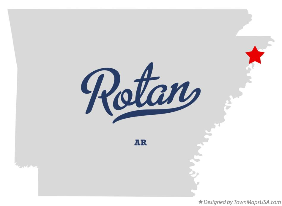 Map of Rotan Arkansas AR