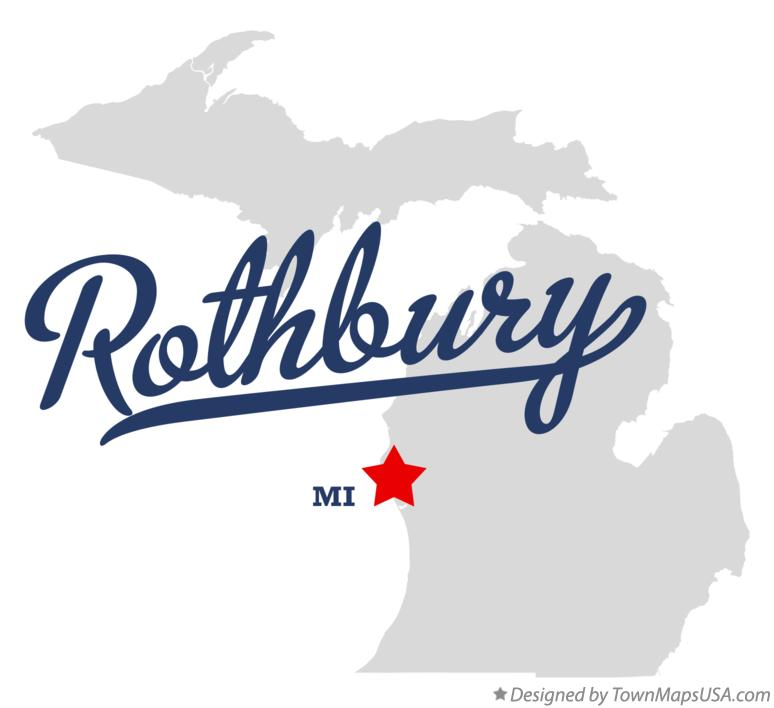 Map of Rothbury MI Michigan