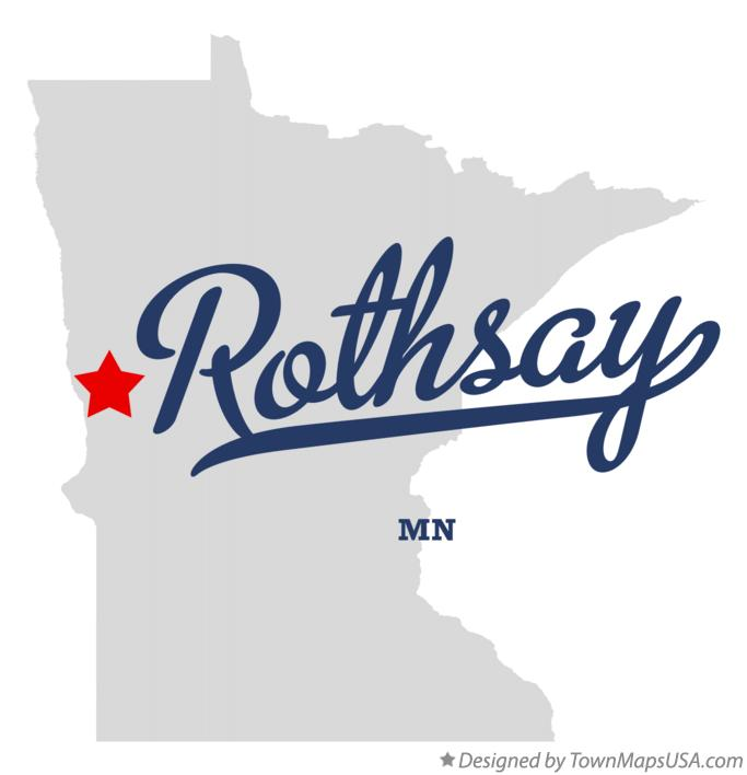Map of Rothsay Minnesota MN