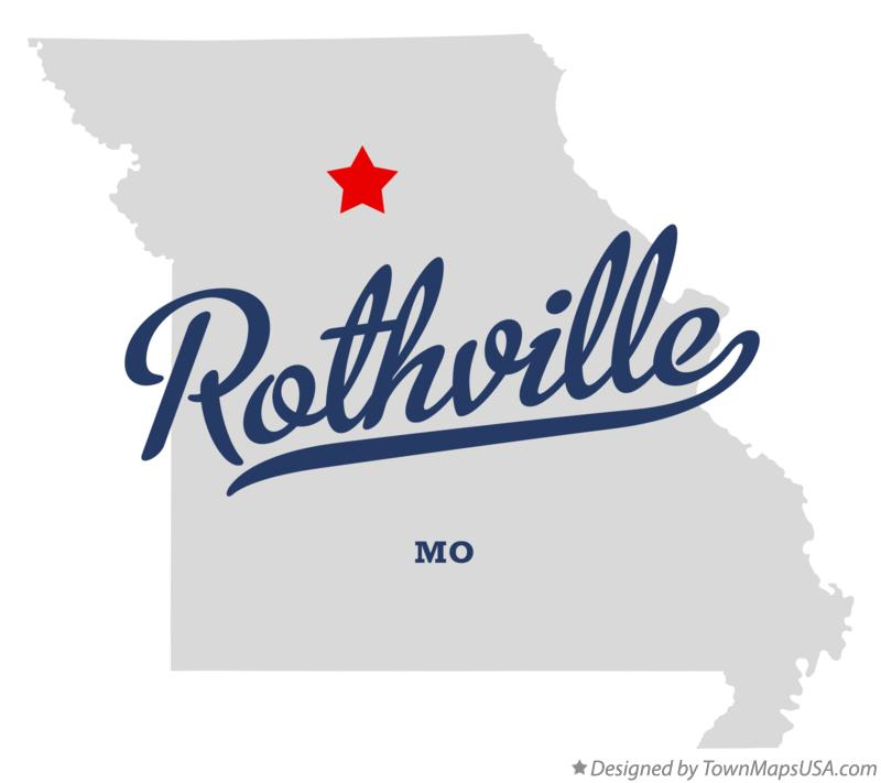 Map of Rothville Missouri MO