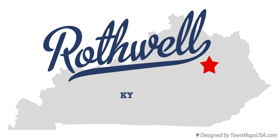 Map of Rothwell Kentucky KY