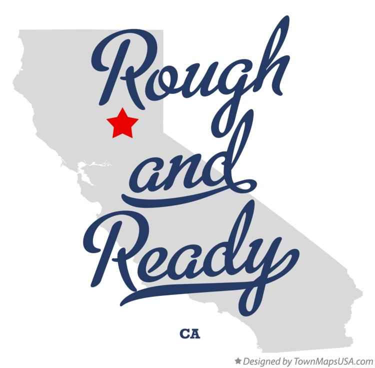 Map of Rough and Ready California CA