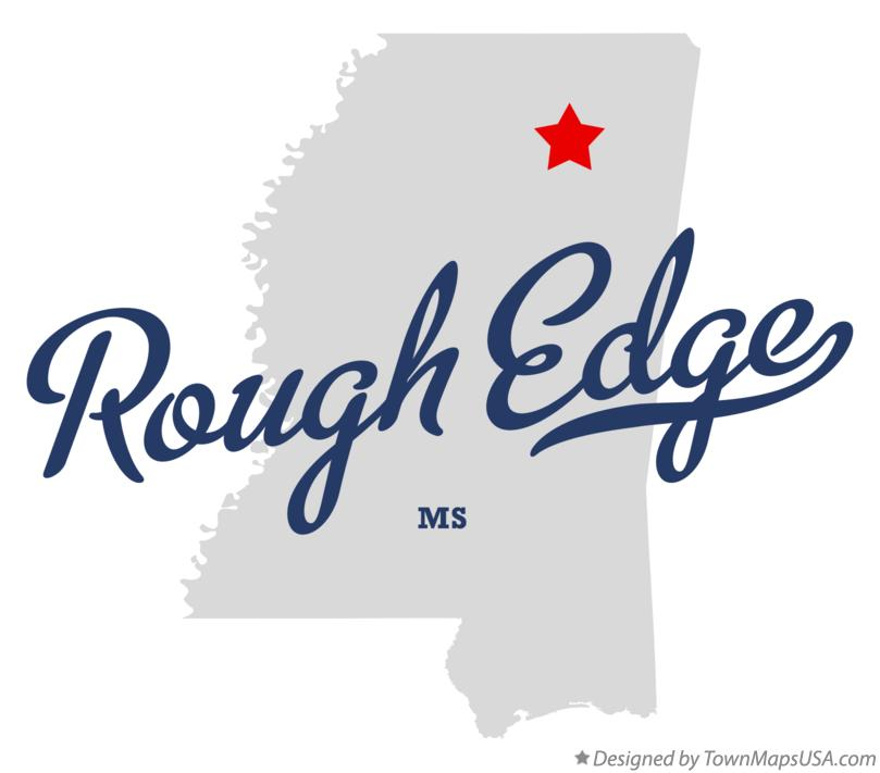 Map of Rough Edge Mississippi MS