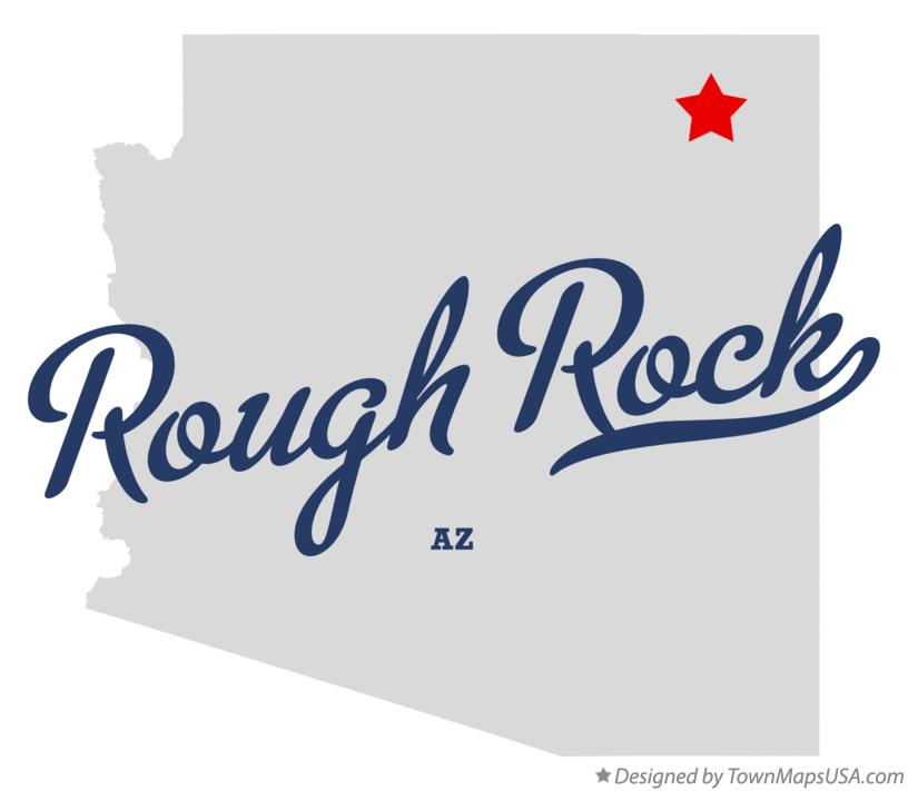 Map of Rough Rock Arizona AZ