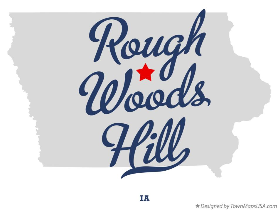 Map of Rough Woods Hill Iowa IA