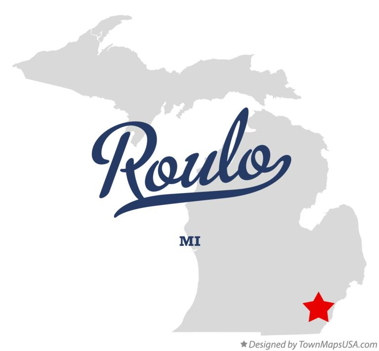 Map of Roulo Michigan MI