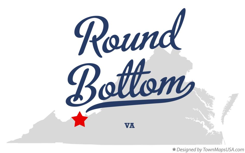 Map of Round Bottom Virginia VA