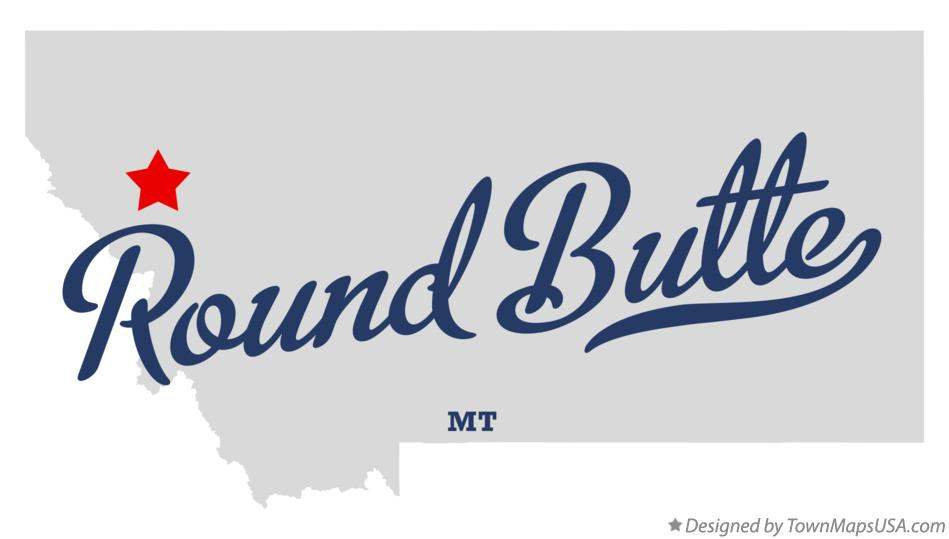 Map of Round Butte Montana MT